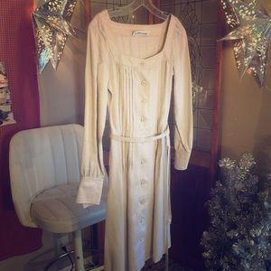 👡Stylish Vintage Albert Nipon Linen Pleated Dress